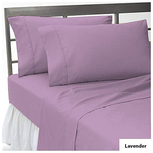 Addy Home 100% Egyptian Cotton Pillowcases Liquidation Sale - 400 TC Egyptian Quality Set of 2 Pillow Cases - Silky Soft 2pc Pillow Cover Lavender Solid, Standard (20X30)