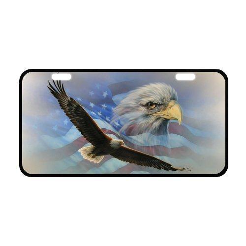 - US Flag Patriotic Eagle Durable Aluminum Car License Plate 11.8