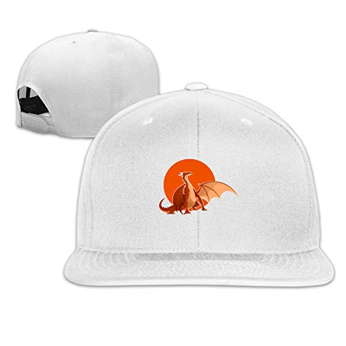 ONE-HEART HR Baseball Cap Big Red Dragon Adjustable Custom Flat Peaked Hat Unisex