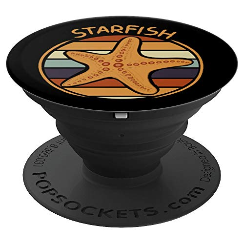 70s Retro Starfishes Quote Art Outfit Gift Vintage Starfish PopSockets Grip and Stand for Phones and -