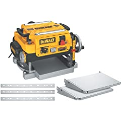 Includes 13-in Two-Speed Thickness Planer - DW735X, Dust Hose Adapter, Dust Ejection Chute, Extra Set of Knives, Infeed Table, Outfeed Table