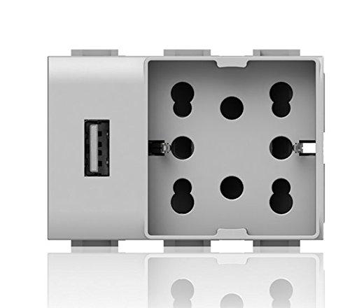 5 opinioni per SIDE UNIKA USB PER VIMAR PLANA BIANCA 4BX.4B.V14.H21.USB
