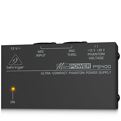 Behringer Micropower PS400 Ultra-Compact Phantom Power Supply Behringer Ultra Compact Microphone