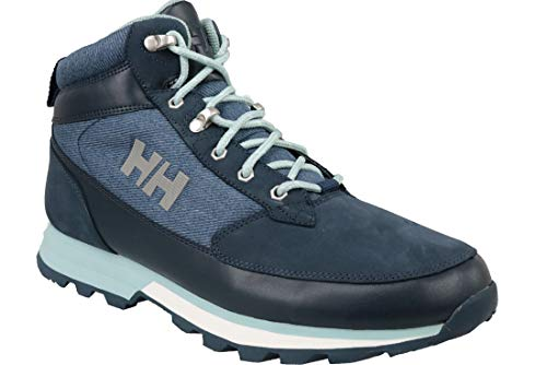 Helly Hansen Women's Chilcotin Waterproof Leather Winter Boot with Grip, Evening Blue/Marine Blue/Blue Haze, 9