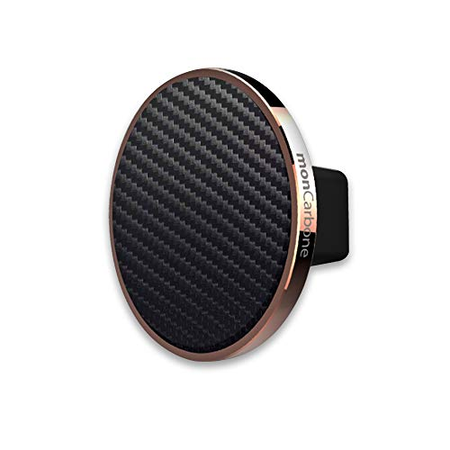 monCarbone Magnetic Phone Car Mount Air Vent Universal Hands Free Cell Phone Holder for iPhone X/XS/XS Max/XR/8/8 Plus Galaxy S9/S9 Plus/S8/S8 Plus/Note 8/Note 9 and More - Rose Gold Carbon Fiber