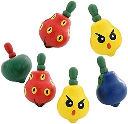 Toyvian 6 Piezas de Madera en Forma de Fruta Colorido Creativo ...
