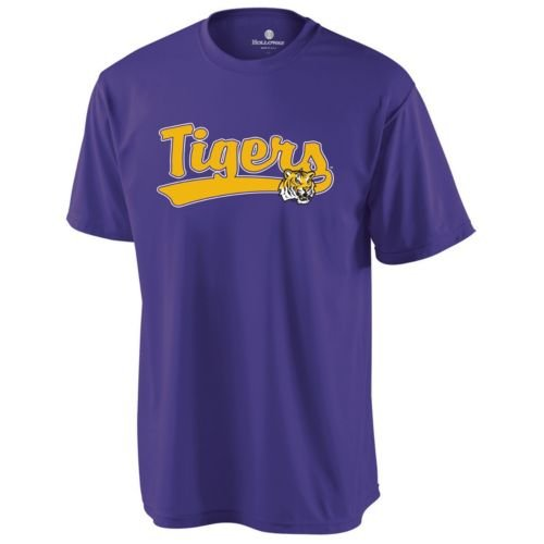 CREWNECK LSU TIGERS Dry Excel Wicking Tee ADULT XL Licensed NCAA College Replica Jersey