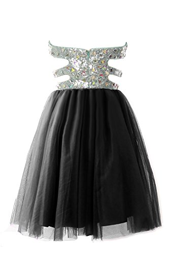 Women Ball Sequin Himmelblau MACloth Prom Strapless Dress Gown Cutout Formal Short Evening fRdRzw