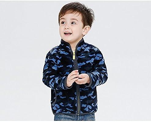 HUAER/& Little Boy Camouflage Fleece Zipper Jackets