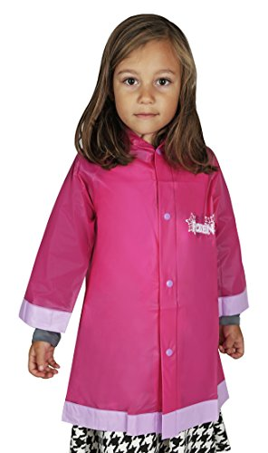 Disney Frozen Little Girls' Waterproof Outwear Hooded Rain Slicker - Toddler