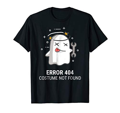 Halloween Easy Ghost Error 404 Costume Not Found T-Shirt]()