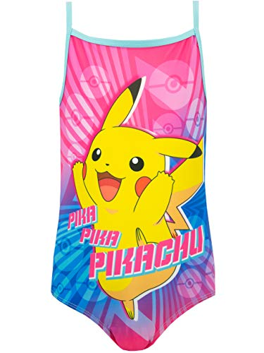 Pokemon Girls' Pikachu Swimsuit Size 3T Multicolored -
