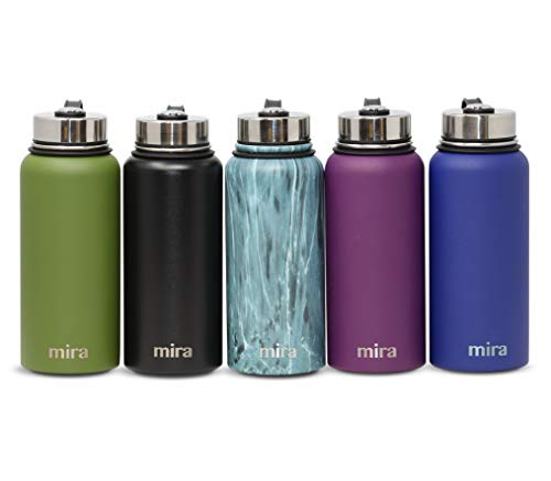 0db3acffb6e1 MIRA 32 Oz Stainless Steel Vacuum Insulated Wide Mouth Water Bottle |  Thermos Keeps Cold for 24 Hours, Hot for 12 Hours | Double Wall Powder  Coated ...
