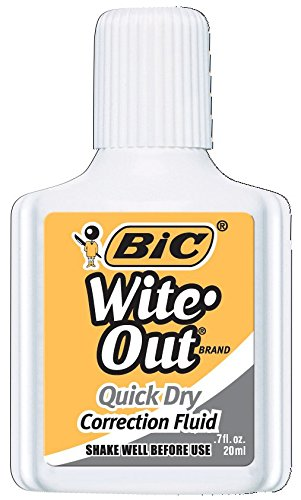 Billet Marker - Wite Out Quick Dry Correction Fluid, 12-Count  Boxes