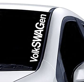 Volkswagen windscreen sticker vw golf polo funny car van 4x4 jdm drift window paintwork decal graphic