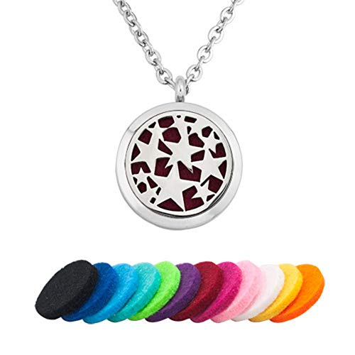 Moonlight Collection Constellation Essential Oil Diffuser Necklace Galaxy Perfume Scented Locket Stars Aromatherapy Pendant -
