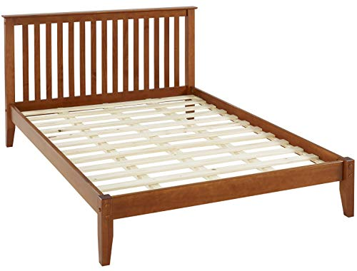 Camaflexi Mission Style King Size Platform Bed Brown/Cherry/King/Traditional/Solid Wood