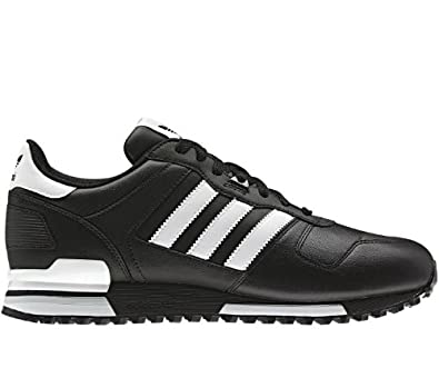 caebaf0a7 Adidas Originals Men s ZX 700 Comp Black White Leather Running Retro Casual  Shoes Trainers (UK