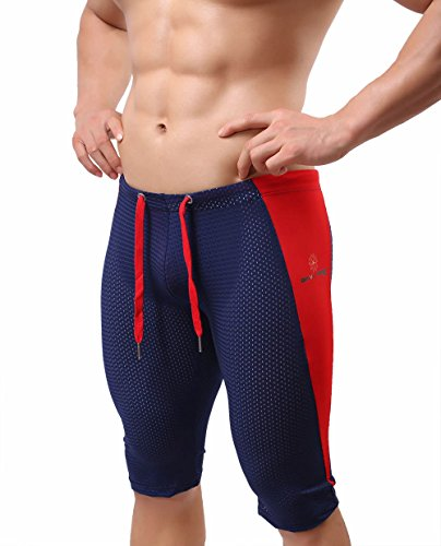 L'ASHER Ergonomic Extended Length Compression Shorts navy US L