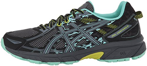 ASICS Women's Gel-Venture 6 Running-Shoes,Black/Carbon/Neon Lime,7.5 Medium US