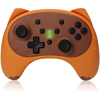 KINGEAR Switch Pro Controller for Nintendo Switch/Switch Lite,Cartoon Kitten Wireless Controller Remote Wake up Gamepad Supports Adjustable Turbo,Gyro Axis and Dual Vibration【2020 Upgraded Version】