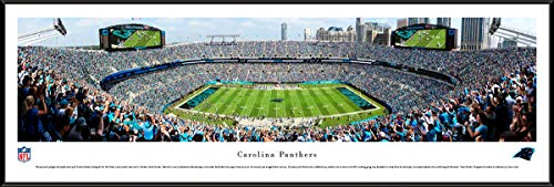 (Carolina Panthers Football (50 YD Panther Logo) - Standard Framed NFL Print by Blakeway Panoramas)