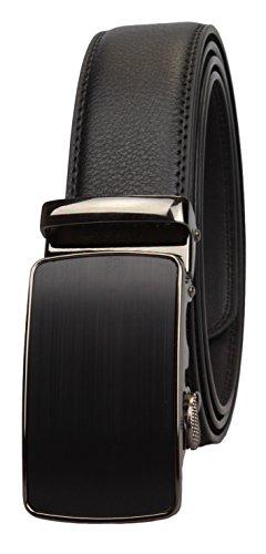 Automatique 95 120cm 5cm Tour Largeur 135cm Taille En Noir Cuir Style47 De 3 110 Avec Ceinture Boucle Véritable Longueur Y8aTqTw