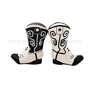 Pacific Trading 8986 Magnetic Cowboy Boots Salt And Pepper Shakers