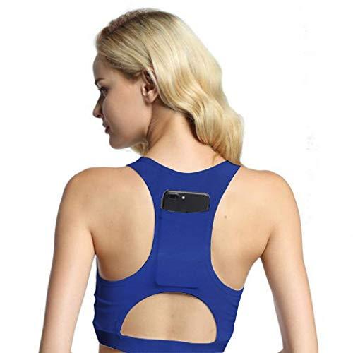 Azul Postural Para Hombro Fitness Apoyo Mejora Cinturón De Ajustable Volver Con Lumbar Corrección Taza Deportivo 2 Bolsillo A Yoga 1 Sujetador Tencoz Mujer Transpirable Corrector xpSHqvwP