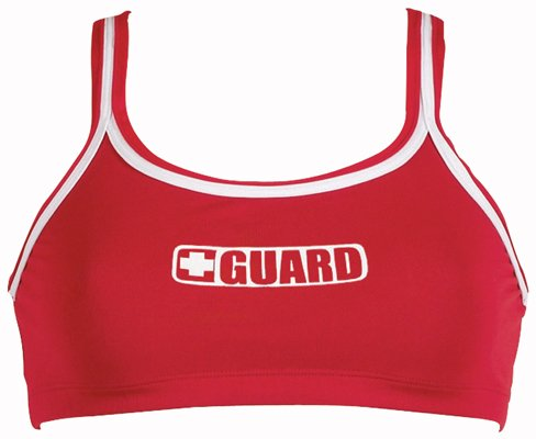 Dolfin Guard Sports TOP Womens RED Extra Large
