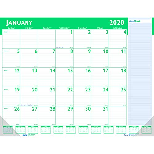House of Doolittle 2020 Monthly Desk Pad Calendar, Express Track, 22 x 17 Inches, January - January (HOD148-20)