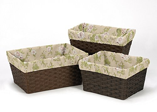 Set of 3 One Size Fits Most Basket Liners for Baby Annabel Bedding Sets ()
