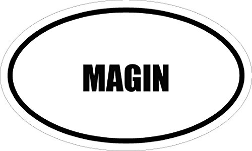 6  Printed Magin Name Oval Euro Style Magnet For Any Metal Surface
