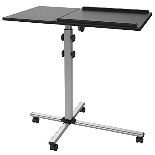 Mobiler Projektor Beamer Wagen Rollwagen Notebook Laptop Tisch TS-2 mit 2 Platten stabil mobil neigbar