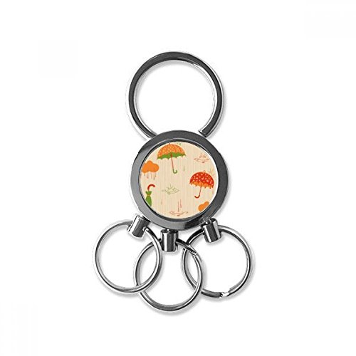 Cloud Umbrella Rain Drip Weather Stainless Steel Metal Key Chain Ring Car Keychain Keyring Clip Gift from DIYthinker