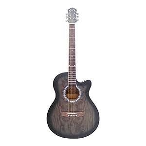 Luis by Acandoo Westerngitarre 4/4 Acoustic Guitar 40′ Cutaway Matt Tobacco Sunburst