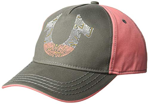 True Religion Men's Digital Horseshoe Ball Cap, Charcoal, OSFA