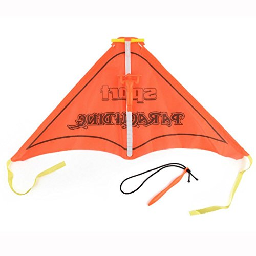 Price comparison product image Kawaii Paragliding Flying Hang Glider Set Launch Catapult Slingshot Outdoor Toy Gift for Kids - Waymine (Orange)