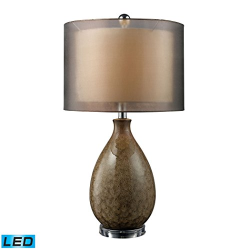 Manhattan Collection Brockhurst LED Table Lamp In Francis Fawn Finish With Bronze Organza ()
