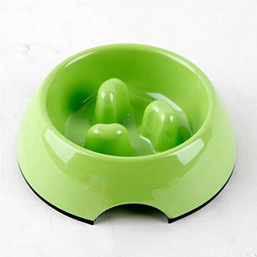 Apple green Xl Apple green Xl ZHBWJSH Slow Food Bowl Dog Bowl Dog Pot Cat Bowl Pet Supplies Pet Bowl Stop Food Bowl, Multicolor Optional (color   Apple Green, Size   XL)