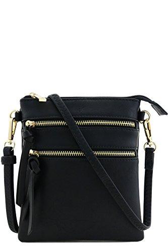 Black Pocket Bag Functional Multi Crossbody Iw8aX