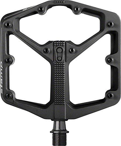 Crank Brothers Stamp 2 Large Raw Body Pedal, Black