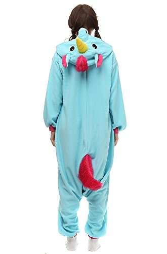 OLadydress Unisex Unicorn Costumes Pyjamas, Adult Women Men Animal Cosplay Onesie