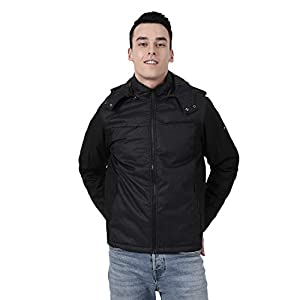 Monte Carlo Black Solid Polyester Hood Jacket