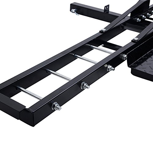 Goplus Anti Tilt Hitch Mount Carrier W Rack Ramp Hauler