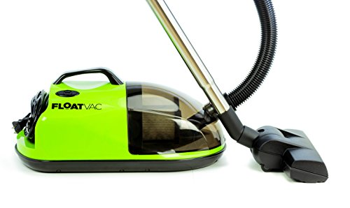 FloatVac bagless Canister Vacuum Floats on Invisible air Cushion, Extremely Lightweight, Powerful Suction – Emerald Green