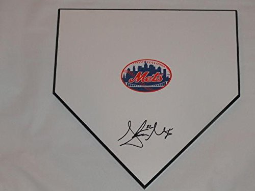 Steven Matz Signed Home Plate New York Mets Autographed Rookie Star - MLB Game Used Bases ()