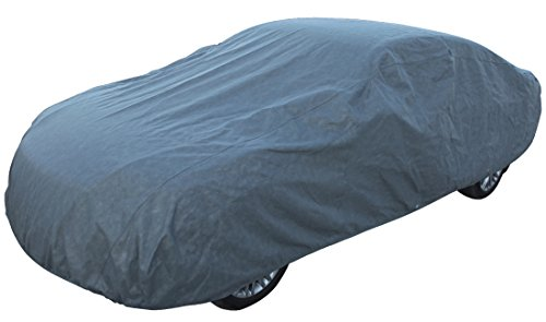 """Leader Accessories Platinum Guard Gray 7 Layer Super Soft Car Cover with Cotton Outdoor Protect Against Scratch Cars up to 200"""""""