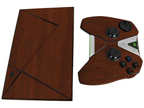 Skinomi TechSkin - NVIDIA Shield TV + Controller Dark Wood Full Body Skin Protector / Front & Back Wrap / Premium HD Clear Film / Ultra Invisible and Anti-Bubble Shield
