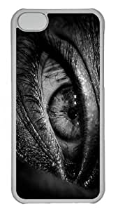 fun case eye PC Transparent case for iphone 5C
